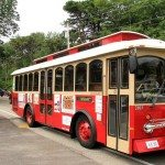 old orchard beach saco maine trolley